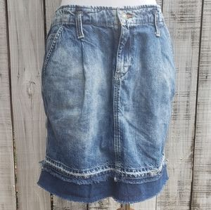 Denim & Supply Ralph Lauren Distressed Jean Skirt